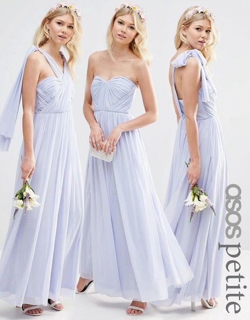 PETITE WEDDING Multiway Mesh Maxi Dress