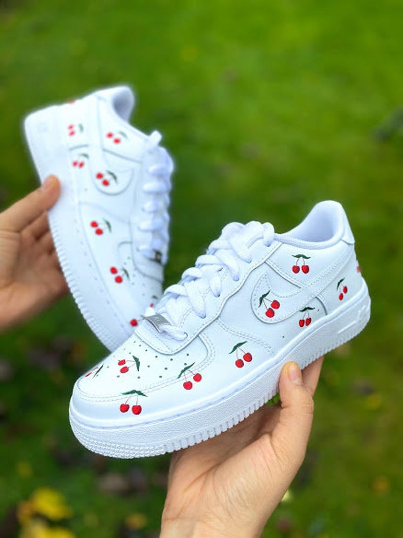 Custom Air Force 1 Low Cherry Air Force Etsy Custom