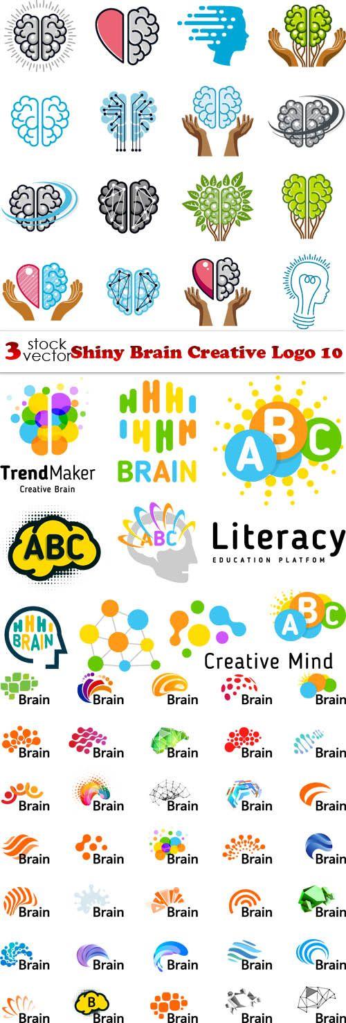 Векторный клипарт Shiny Brain Creative Logo 10