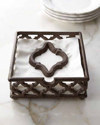 Ogee-G Napkin Holder by GG Collection at Neiman Marcus.
