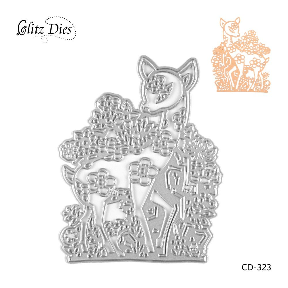 Deer Design for Wedding Day Cutting Dies for DIY Scrapbooking Birthday Photo Album Decorative Embossing DIY Paper Cards