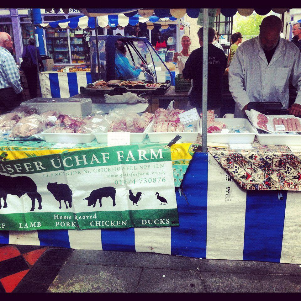 Get your locallyreared meat at Abergavenny's weekly