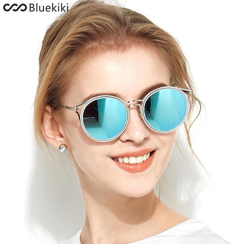 e4da0b40c6 FuzWeb KIKI Women Polarized Sunglasses Round er Blue Driving UV400 Cat eye  gafas oculos de sol feminino  sunglasses  summer  womensfashion  women
