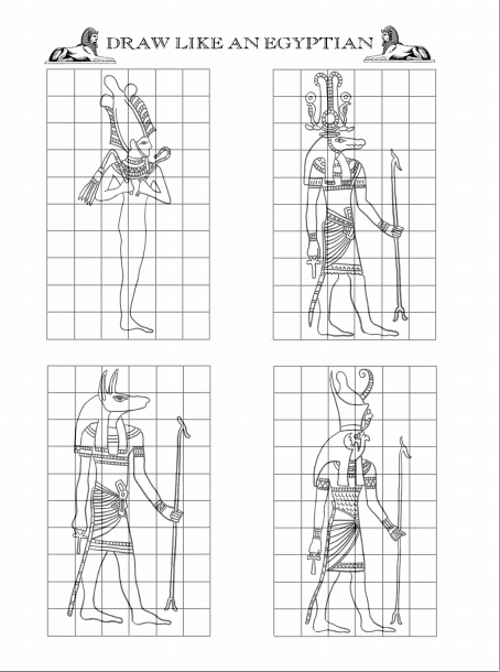Draw like an Egyptian. Some parts face forward, others to