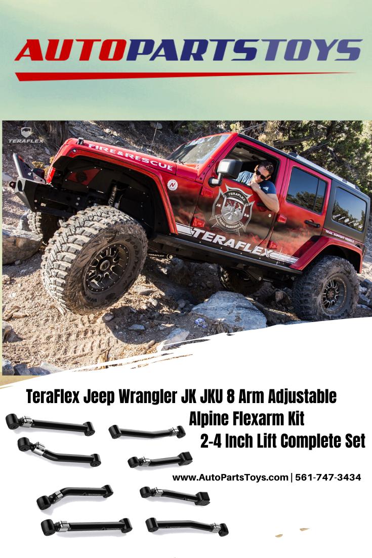 TeraFlex 1415610 JK Complete 8 Adjustable Alpine Flexarm Kit
