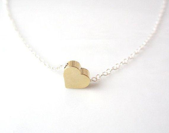 Photo of Tiny Heart Necklace, minimalist jewelry, dainty jewelry, layer necklace –  Tiny …
