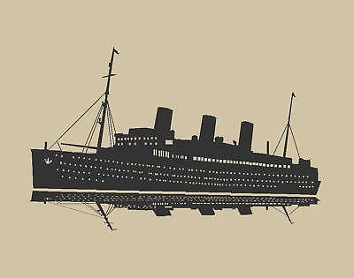 SAILING SHIP TITANIC BOAT WALL ART STICKER DECAL Huge Removable - Decals for boats uk