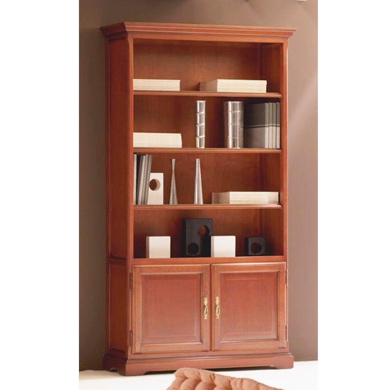 Librero con 2 puertas clasico pino mi hogar en 2019 - Libreros de madera modernos ...