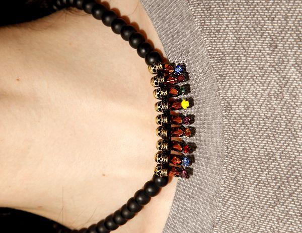gold skull necklace / Pixie Market