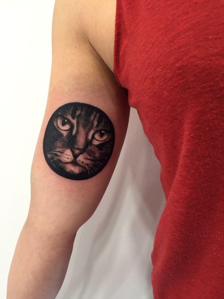 Cat tattoo by brian at dogstar tattoo in durham nc tattoo skin