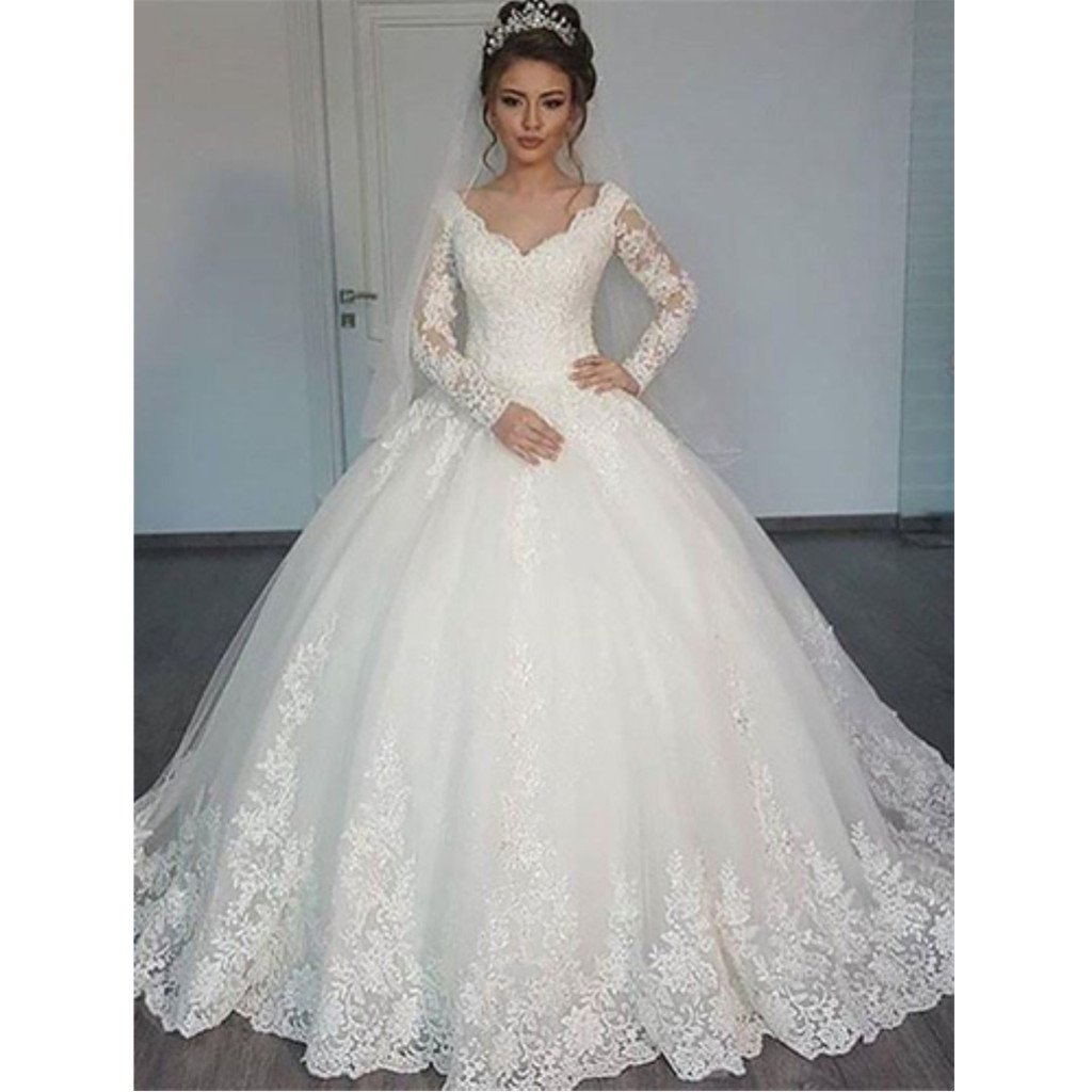 Long Sleeves Lace Ball Gown Wedding Dresses Online Cheap Lace Bridal Dresses Wd447 Wedding Wedd Online Wedding Dress Lace Ball Gowns Wedding Dress Sleeves [ 1024 x 1024 Pixel ]