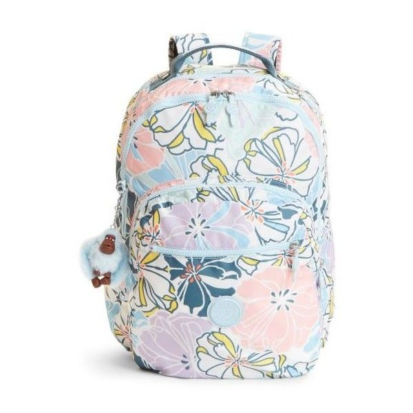 e459b3ed3f Kipling Seoul Large Printed Laptop Backpack ($124) ❤ liked on Polyvore  featuring bags, backpacks, hello spring, kipling backpack, laptop bags,  laptop ...