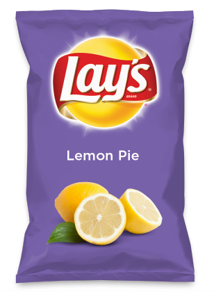 Wouldn't Lemon Pie be yummy as a chip? Lay's Do Us A Flavor is back, and the search is on for the yummiest chip idea. Create one using your favorite flavors from around the country and you could win $1 million! https://www.dousaflavor.com See Rules.