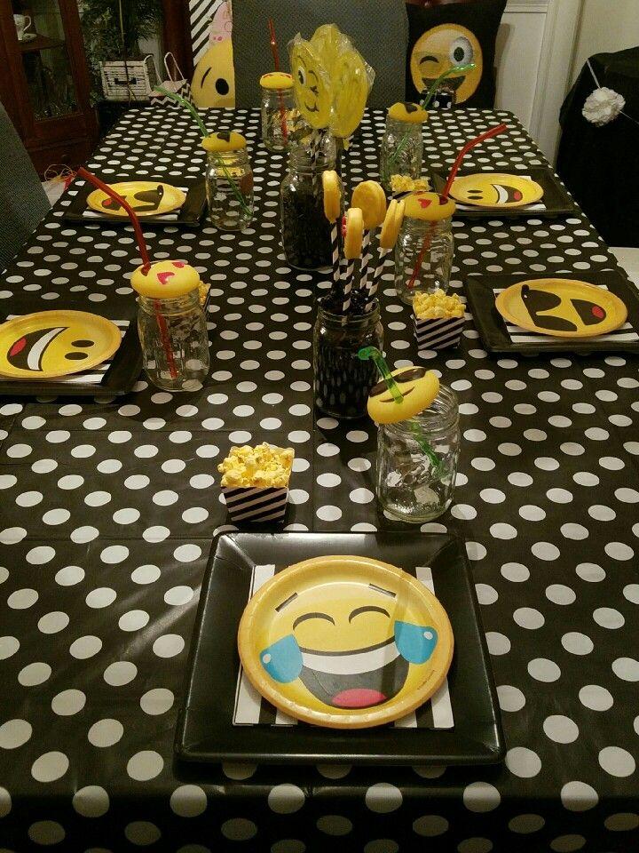 Emoji Party Table 13th Birthday Parties 11th Bash