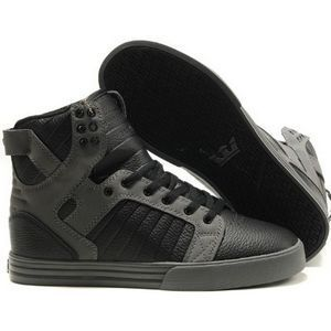 ec07d39de2 Supra Skytop Black Croc & Suede Skate Shoe High Tops for Men | Men's ...