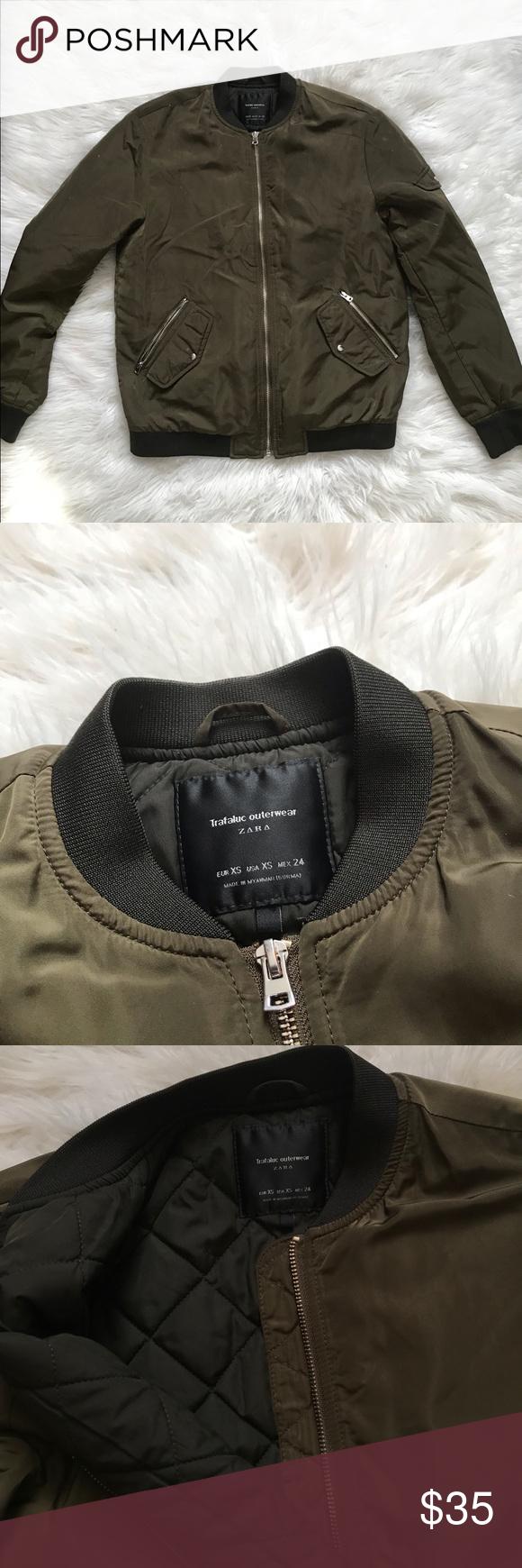 Zara Basic Bomber Jacket Olive Green Bomber Jacket Zara Basic Jackets [ 1740 x 580 Pixel ]