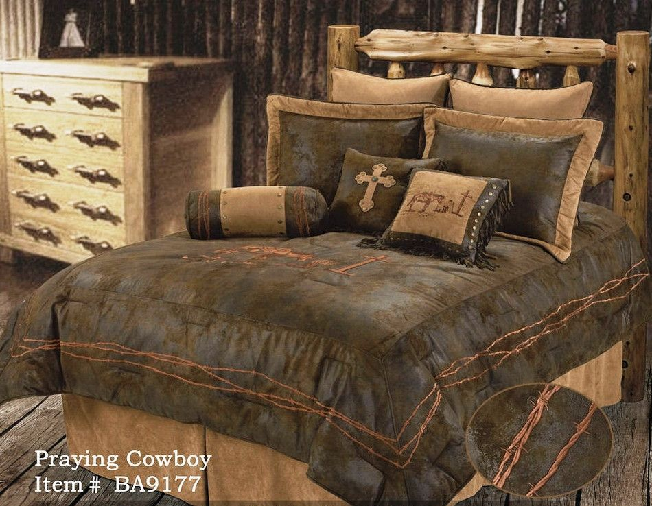 Praying Cowboy 5 Pc Comforter Set Choose Size In 2020 Country Bedding Sets Western Comforter Sets Western Bedding