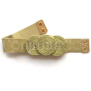 Cinturón-fajín Sirkel en dorado