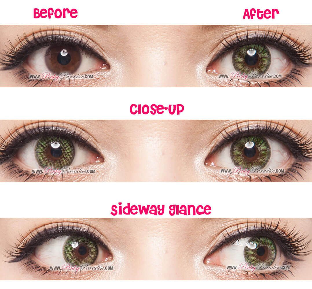 Gg gbt green circle lenses colored contacts