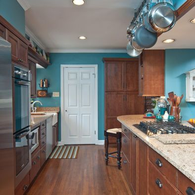 Kitchen Teal Wall Design Pictures Remodel Decor And Ideas