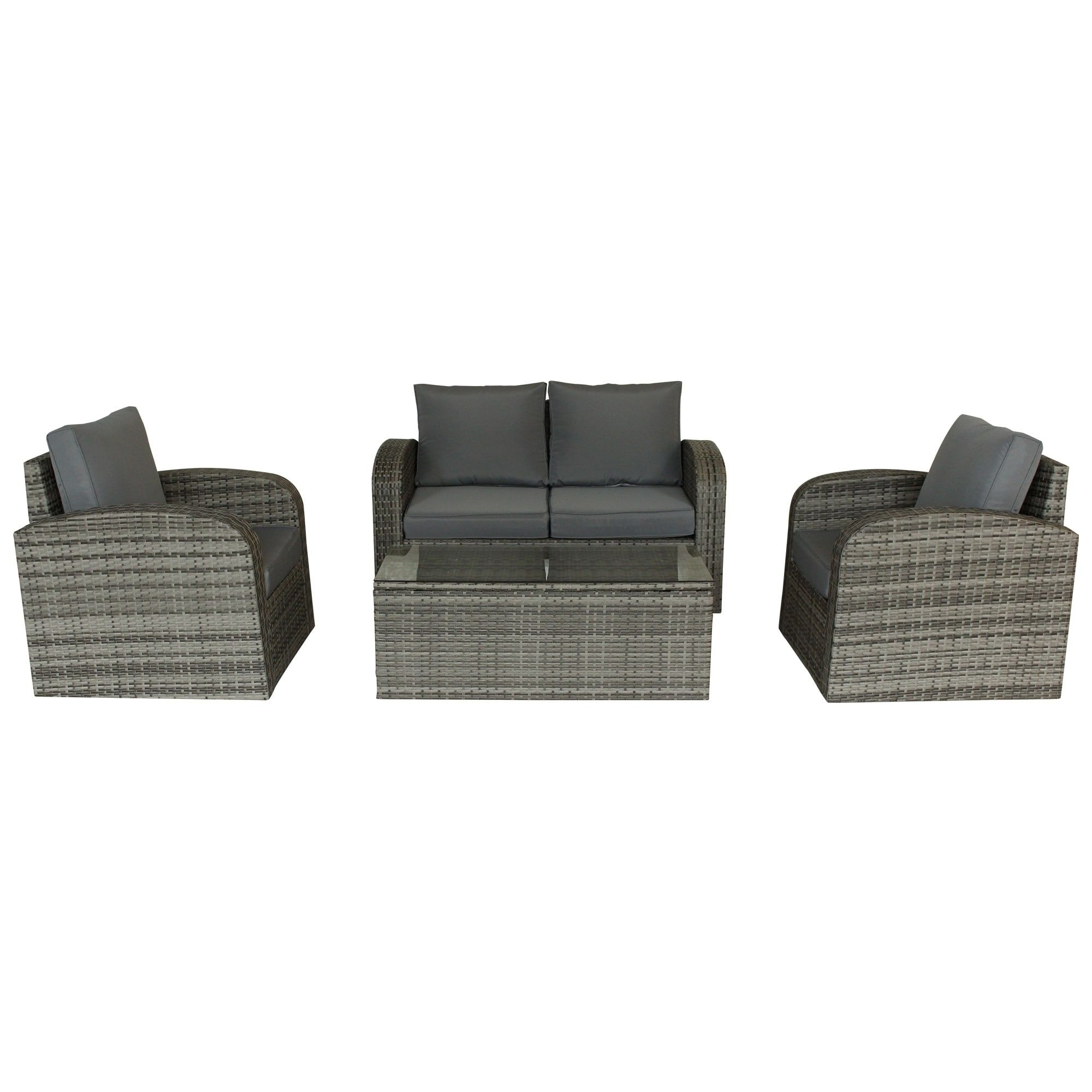 Piece Multy Gray Outdoor Lounge