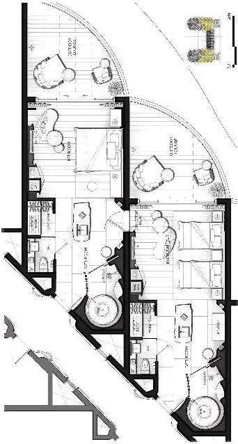 Hotel Room Plan: JW Marriott Danang Resort Main Tower Connecting Room