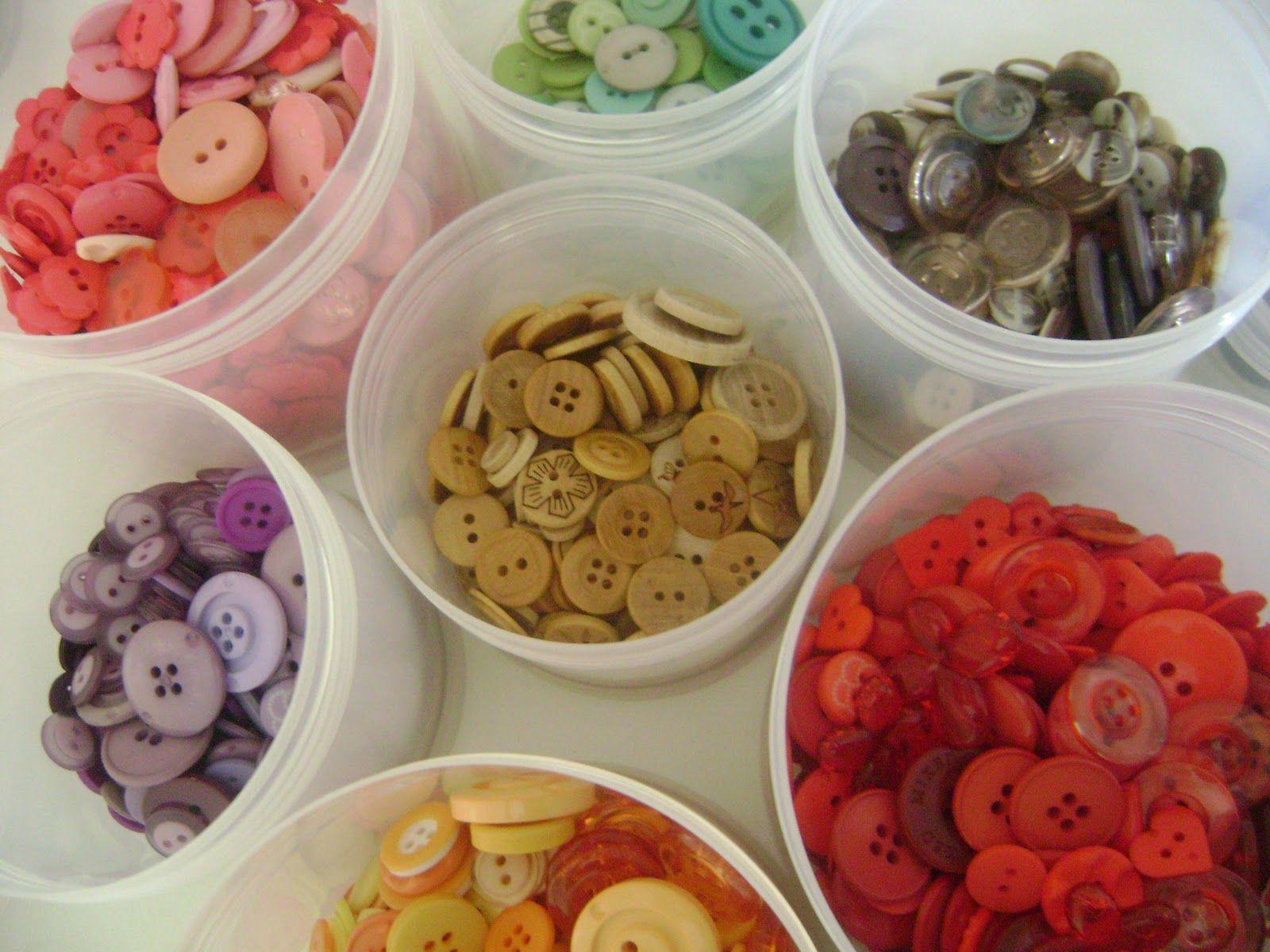 Dicas Crafts - Organizando Botões... ~ Vanessa Maurer