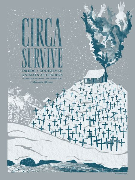 Gig Poster Update From Adam Hanson Gig Posters Circa Survive