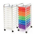 Seville Classics 10 Drawer Cart Multiple Colors With Images Drawer Cart Storage Supplies Organization Cart