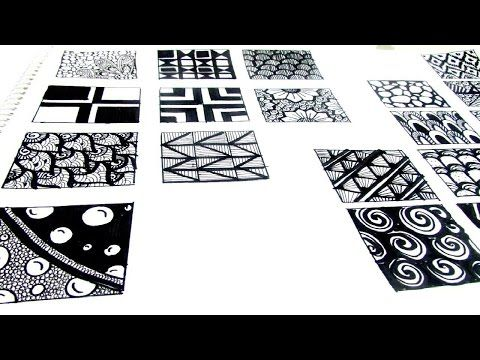 ZENTANGLE ART BÁSICO I 4 patrones fáciles para empezar con zentangle ...
