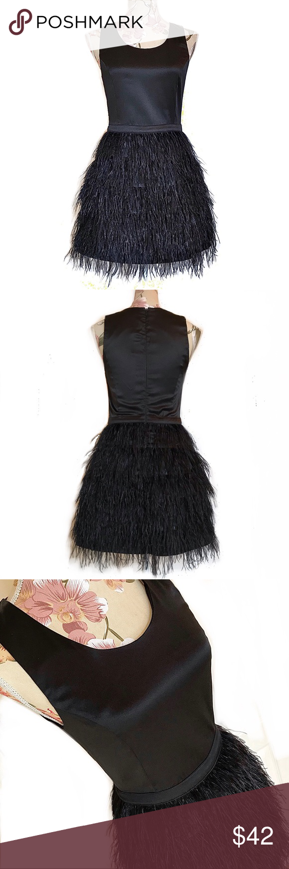 Sugarlips Black Feather Dress Black Feather Dress Feather Dress Black Satin Mini Dress [ 1740 x 580 Pixel ]