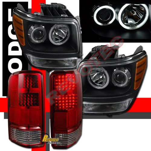 07 08 09 10 11 Dodge Nitro Ccfl Halo Projector Headlights Led Tail Lights Ebay Dodge Nitro Led Tail Lights Dodge