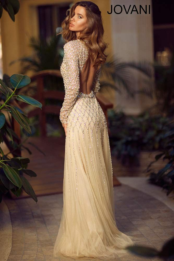 Jovani long sleeve gown | What to Wear | Pinterest