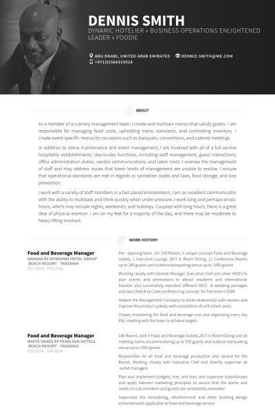 fb outlet manager resume opinion of experts