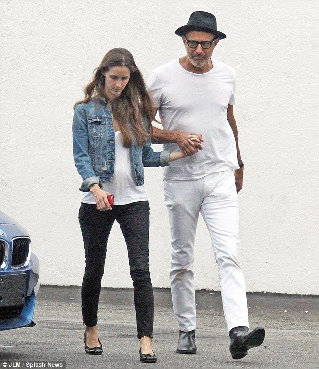 Jeff Goldblum and wife Emilie Livingston take break from baby duty