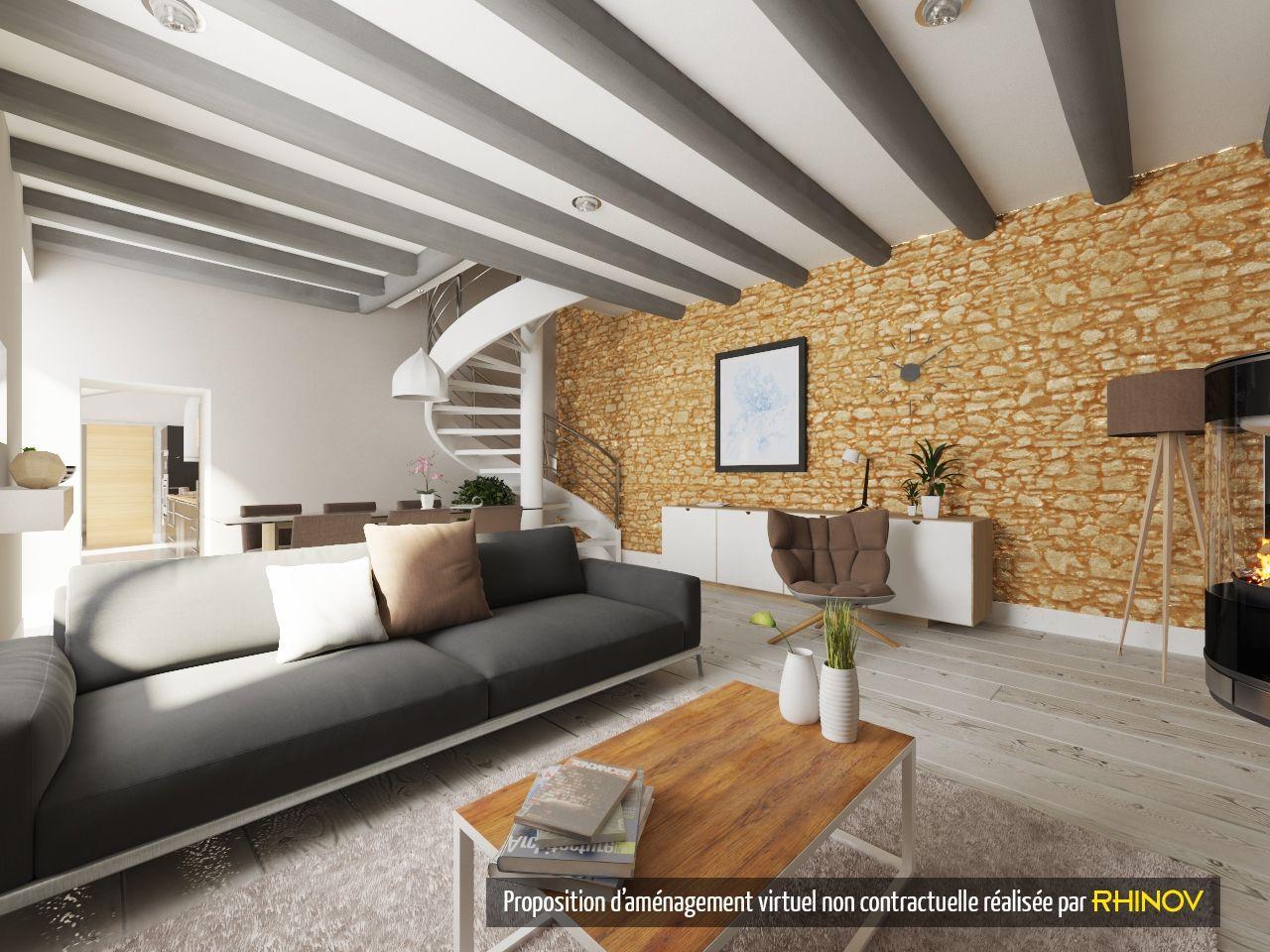 prestation rhinov visuel 3d salon sjour mlange des styles dcoration intrieur