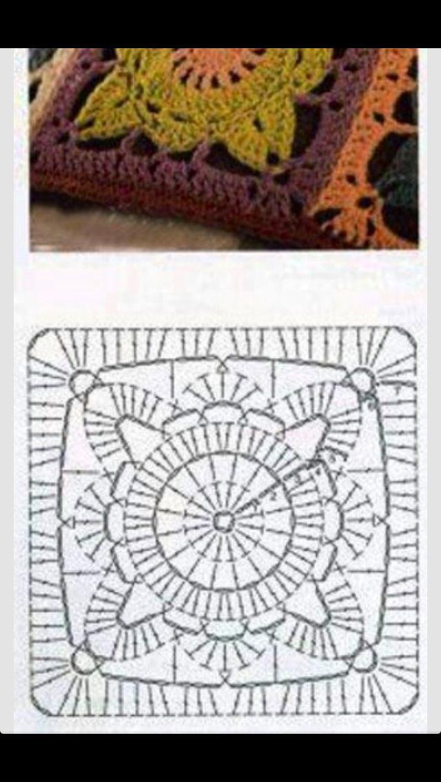 Crochet | quadrados da vovó | Pinterest | Aplicación, Tejido y Punto ...