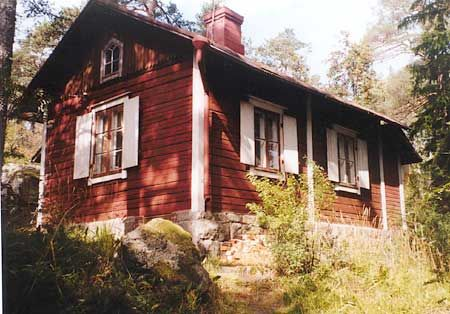 Stugan Kesämökki arviolta 1700-1800 lukujen vaihteesta.