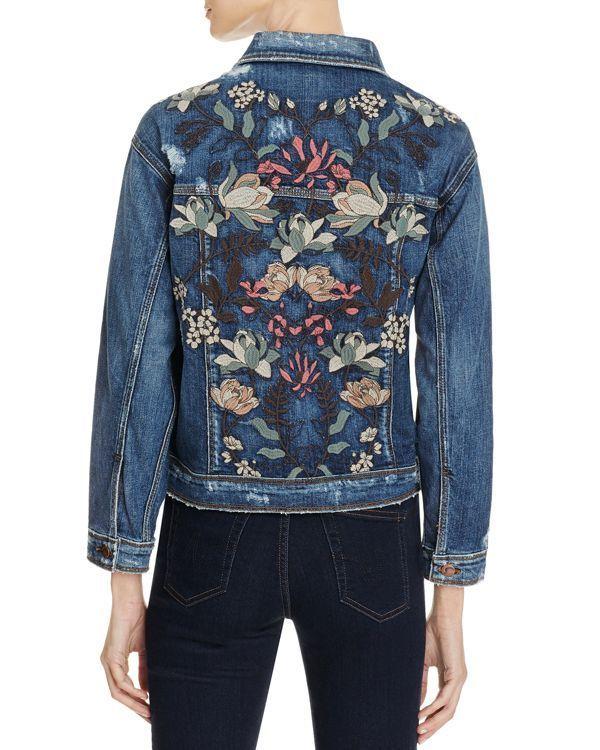 Joe's Jeans Bella Floral Embroidered Denim Jacket | Jean & Denim ...