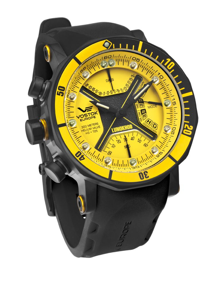 Vostok-Europe Lunokhod 2  VostokEurope  Lunokhod  Watch  Yellow ... 188130a31f5