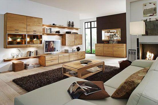 Wohnzimmermöbel Holz ~ Schön wohnzimmer holz möbel sofa und kamine design «interior