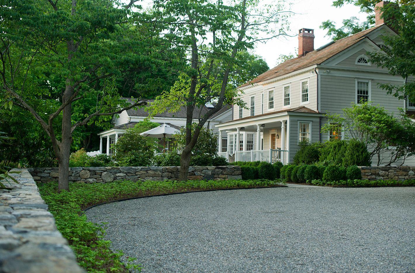 Beautiful driveway Landscape Designers - Greenwich, CT ...