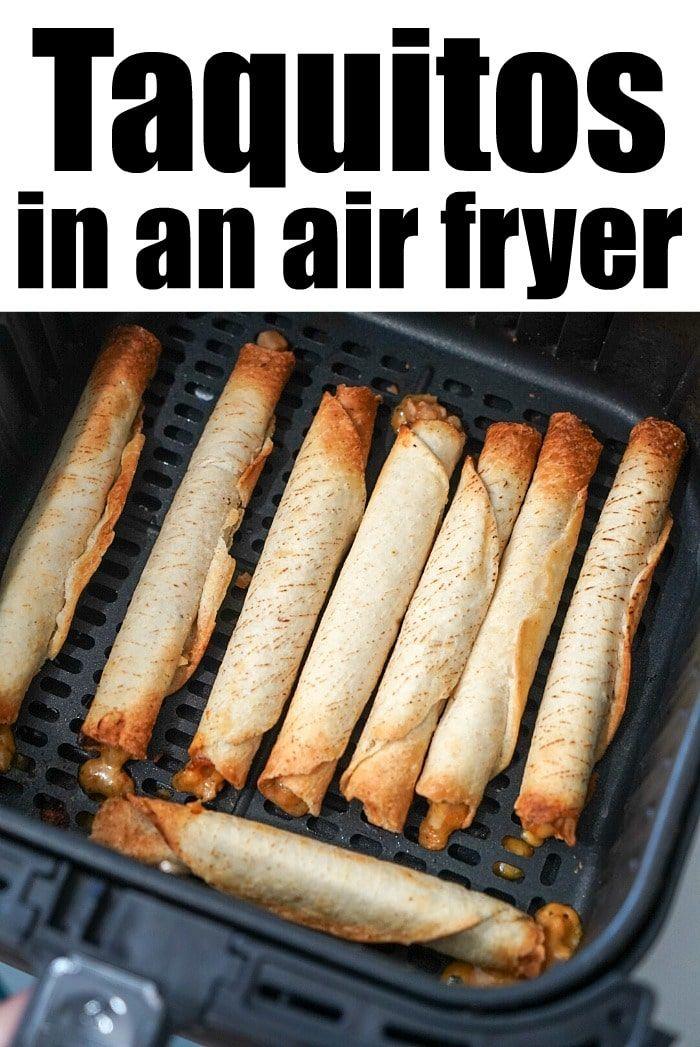Frozen taquitos in air fryer are the best! WAY crispier