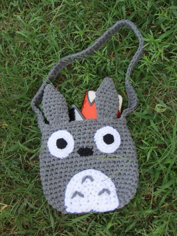 Crochet Totoro Tote by corlista on Etsy, $40.00   Arm Candy ...