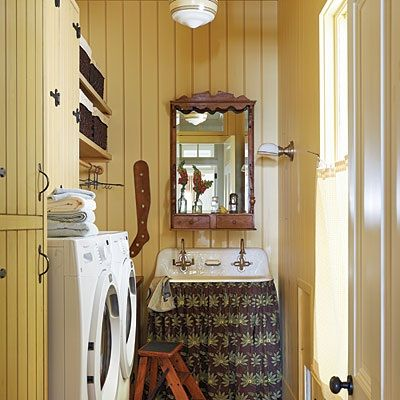 Yellow Paint Color Laundry Room Ideas