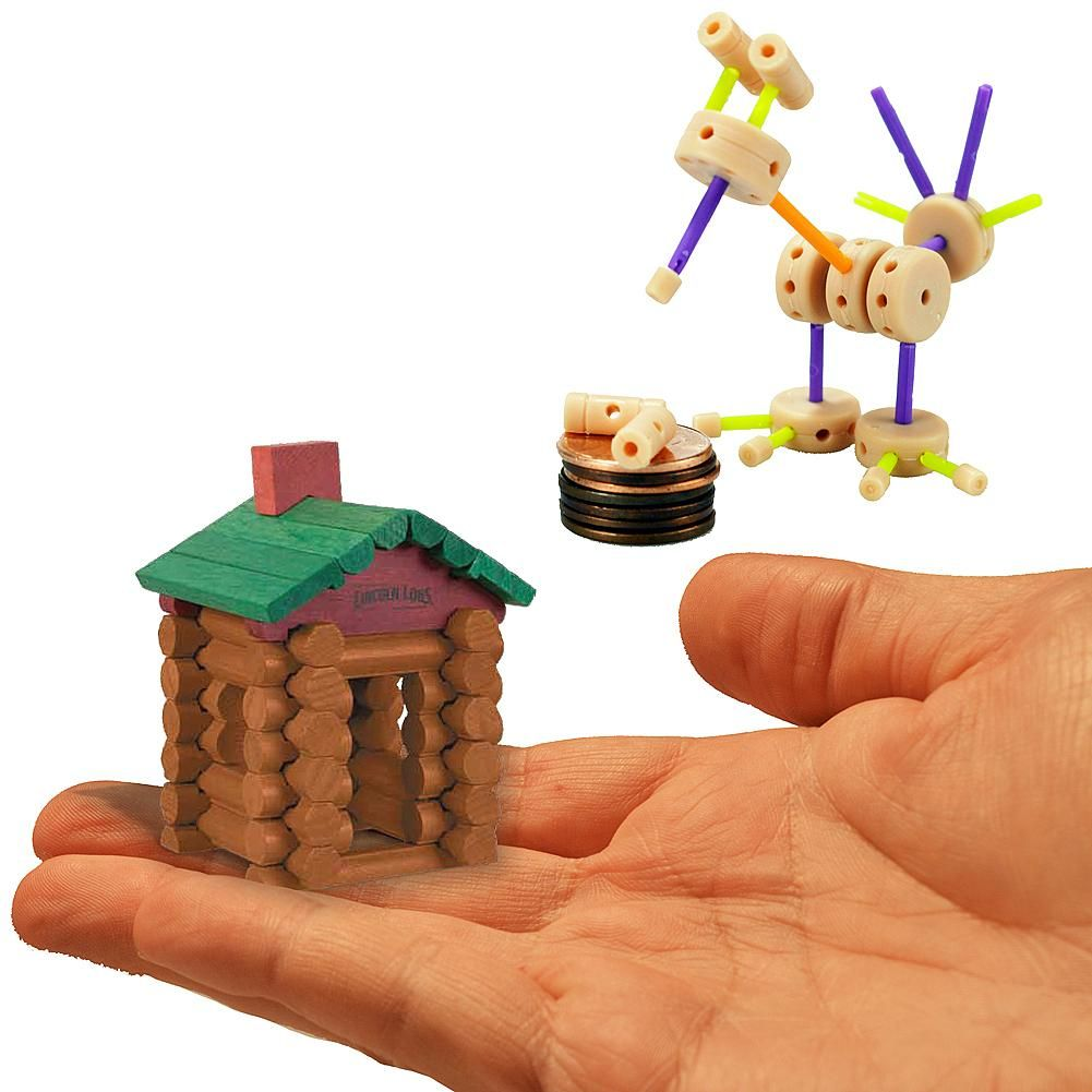 Baby toys images cartoon  Worldus Smallest Tinkertoys pc Set And Lincoln Logs pc Set