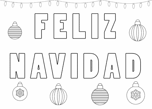 Letreros De Feliz Navidad Para Colorear Coloring Pages Color Christmas Cards