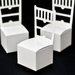 Chair style paper favour box