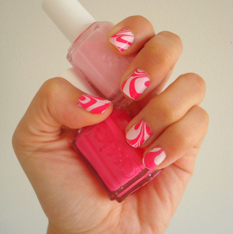 Pink Marble Nails Color Combos