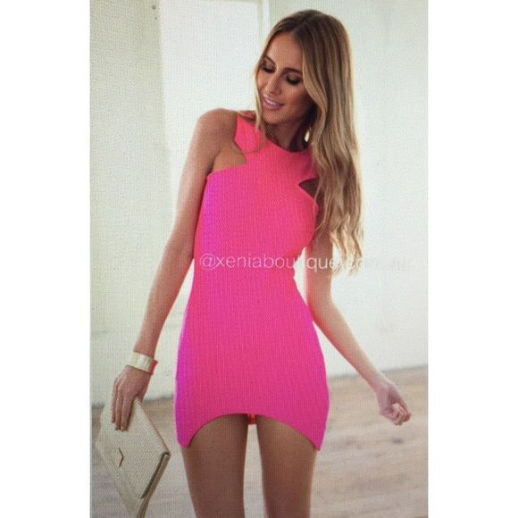 c65e756a56c Xenia Pink Dress Xenia hot pink chic mini dress! Size US 2-4 and size 8  AUS. Never been worn
